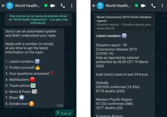 Изображение - ВОЗ Bot на WhatsApp о коронавирусе: добавьте его