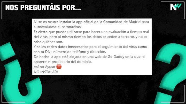 Изображение - Какие данные собирает приложение Coronamadrid.com?