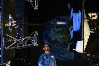 Наземный тест того, что было бы соединением двух спутников
