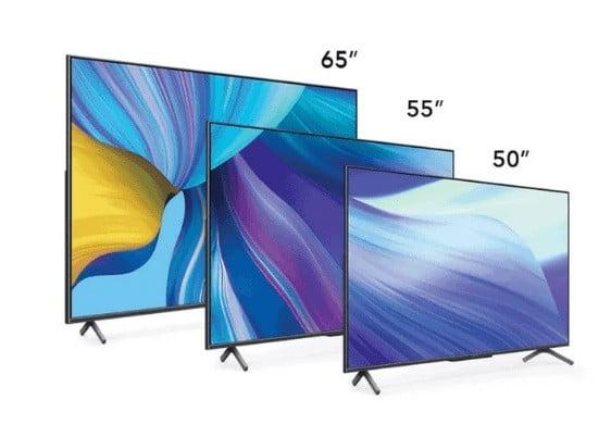 три телевизора Honor Vision X1 в размерах 50, 55 и 65 дюймов