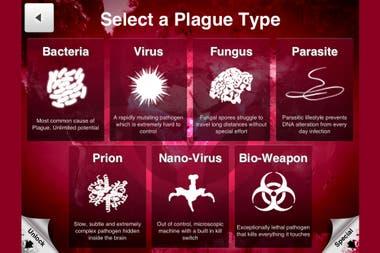 Один из экранов видеоигры Plague Inc
