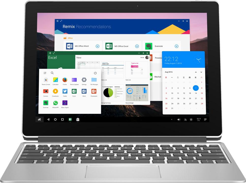 Новые устройства с Remix OS: планшет, ноутбук и все в 1