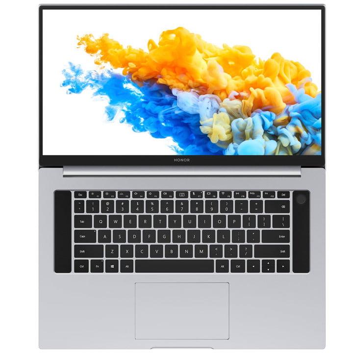 Honor MagicBook Pro 2020 открыт и виден сверху
