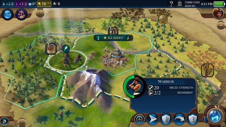 Снимок экрана Civilization VI, одной из лучших игр для iPhone
