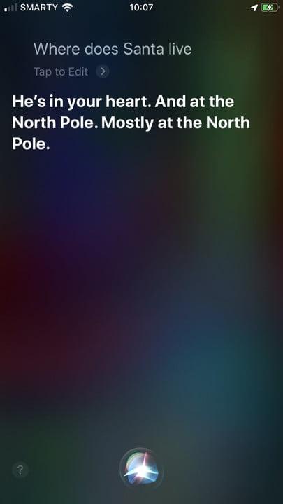Вопросы Ответы Siri Apple Santa Live 2 750x1334