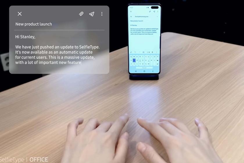Samsung считает, что в будущем нам не понадобится клавиатура, а для смартфона придумывает невидимую с искусственным интеллектом