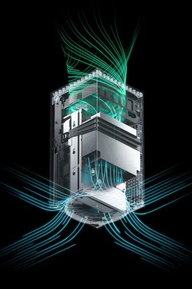 Microsoft подтвердила, что хотя естественный способ поставить новую консоль похож на башню, она также будет работать на ровной