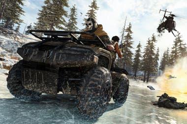 Call of Duty: Warzone происходит в Верданске, сценарий с сельскими и городскими районами, где игроки должны столкнуться друг с другом, спасаясь пешком или в транспортных средствах от наступления смертельного газа