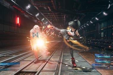 Одно из отличий двух версий Final Fantasy VII в боевой механике.