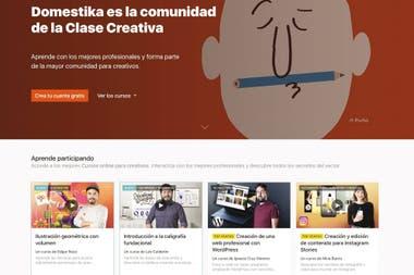 В Doméstika профессионалы с различными творческими профилями взаимодействуют в сети и делятся своей работой. Обеспечивает более 400 курсов, признанных креативщиков из каждой области