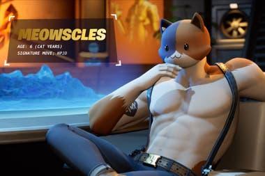 Mewscles, еще один из новых появлений в Fortnite, глава 2