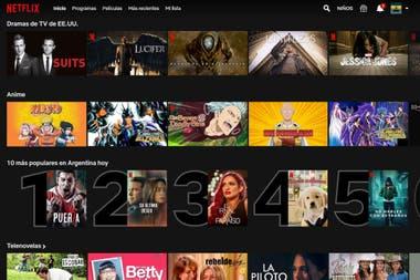 На главной обложке Netflix будут показаны самые популярные сериалы и фильмы дня.
