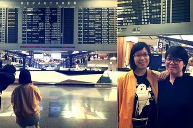 Эйлин Лим и Николь Ли специально приехали в Терминал 2 аэропорта Чанги в Сингапуре, чтобы сфотографировать